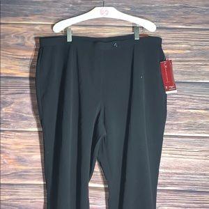 NWT JM Collection pants black slacks 18W